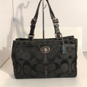 Coach signature logo purse